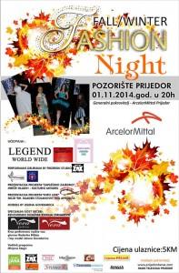 fall winter fashion night-plakat