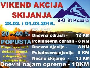 vikend akcija skijanja